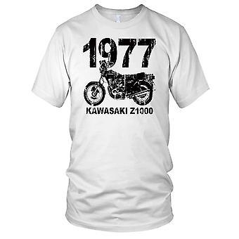 Kawasaki Z1000 1977 Classic Motorcycle Motorbike Bike Ladies T Shirt