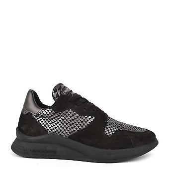 Crime London Naxos Black Suede Trainer