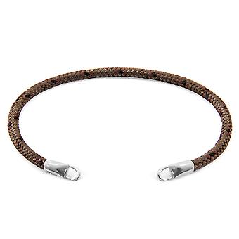 Anchor & Crew Brown Custom Bracelet Rope And Silver Line