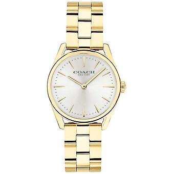 Coach Womens Modern Luxury Gold Tone Bracelet 14503208 Watch