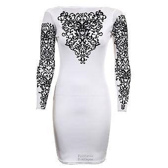 Дамы длинные сетки Вставка низкой задней блеск бисером женщин Bodycon платье
