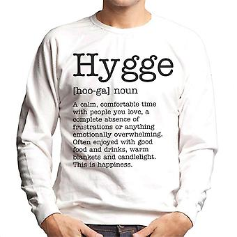 Hygge definitie mannen Sweatshirt
