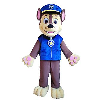 mascot SPOTSOUND of Brown and yellow dog in police uniform