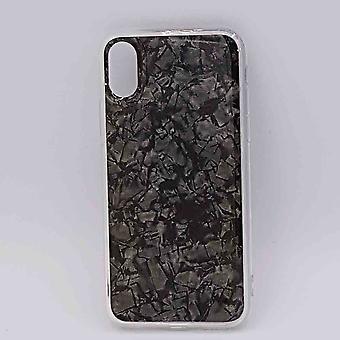 Für IPhone XR-halb transparenten Beutel-schwarz-Flocken