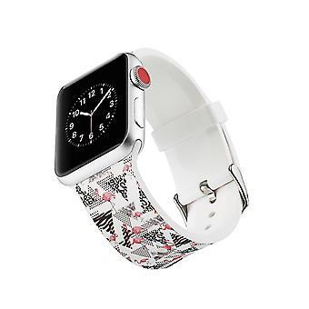 Curea ceas silicon pentru Apple Watch 4 44mm, 3/2/1 42mm-Flamingo