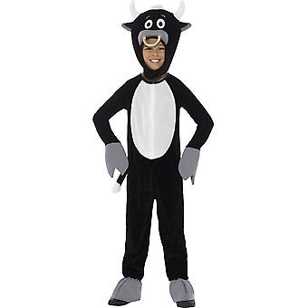 Deluxe Bull Costume, Black, with Jumpsuit & Headpiece