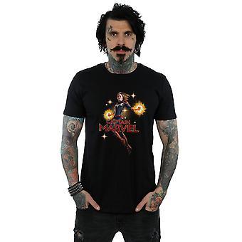 Maravilla camiseta de Capitán Marvel Carol Danvers de los hombres