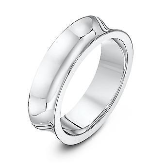 Star Wedding Rings Palladium 950 Concave Court 6mm Wedding Ring