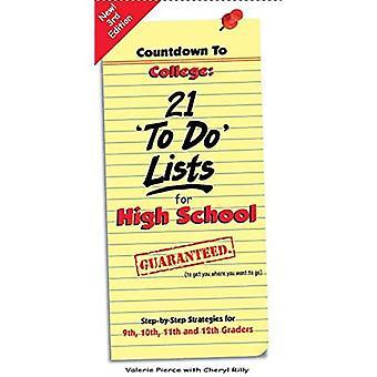 "Countdown to College: 21 ""tehdä"" luetellaan lukion"
