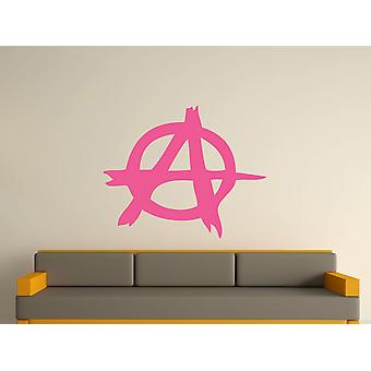 Anarchy Symbol Wall Art Sticker - Pink