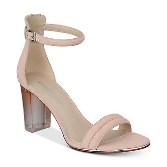 Kenneth Cole New York Womens Lex Lucite Leather Open Toe Special Occasion Ank...