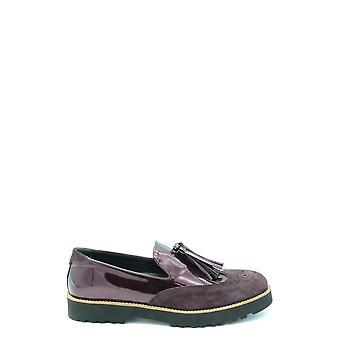 Hogan Ezbc030102 Damen's Burgund Leder Loafers