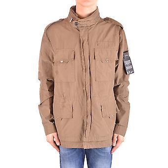Peuterey Ezbc017089 Men's Brown Cotton Outerwear Jacket