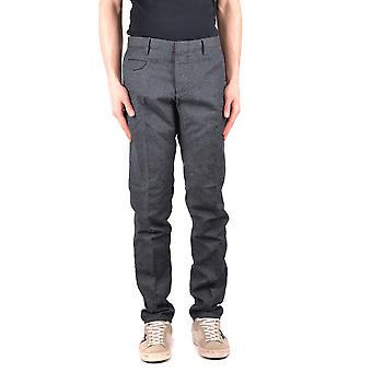 Incotex Ezbc093029 Men's Grey Wool Pants