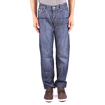 John Richmond Ezbc082072 Men's Blue Cotton Jeans