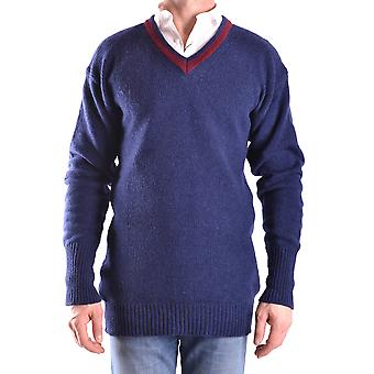 Daniele Alessandrini Ezbc107026 Men's Blue Wool Sweater