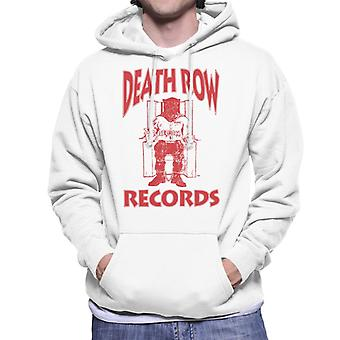 Death Row Records Chair Logo Red Men's Hooded Sweatshirt