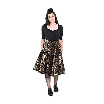 Hell Bunny Panthera 50's Skirt L