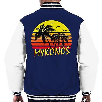Varsity Jacket Mykonos soleil Vintage masculin