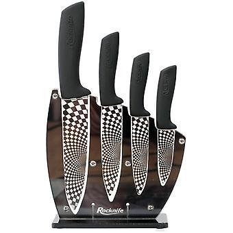 Ensemble de couteau de cuisine en céramique noire
