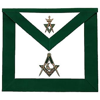 Allied Masonic Degree AMD Hand Embroidered Officer Apron - Junior Deacon