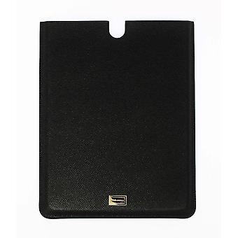Black leather ipad tablet ebook cover