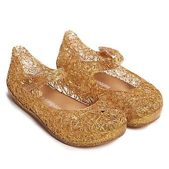 Melissa Shoes Mini Campana Zig Zag 17 Shoes, Gold Glitter