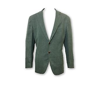 Luciano Barbera semi structured jacket in green