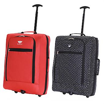 Slimbridge Montecorto Set of 2 Cabin Luggage Bags, (Set of Red and Black Dots)