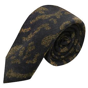 Luxe Perzisch Navy Blue Abstract patroon stropdas