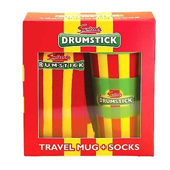 Swizzels Drumstick Travel Mug and Socks Gift Set