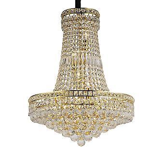 Diyas Frances hänge 14 ljus franskt guld/kristall