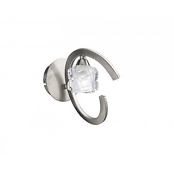 Mantra Ice Wall Lamp Switched 1 Light G9 ECO, Satin Nickel