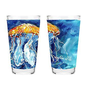 Carolines Treasures  MW1176PINT Jellyfish 16 ounce Mixing Glass