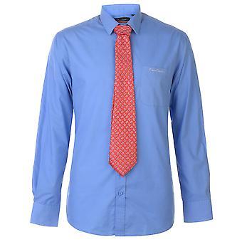 Pierre Cardin Homme Chemise à manches longues Tie Set Casual Top Button Regular