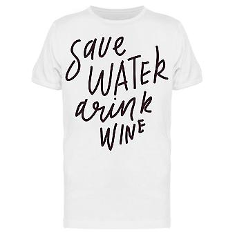 Drink Wine Graphic Tee Men's -Image by Shutterstock