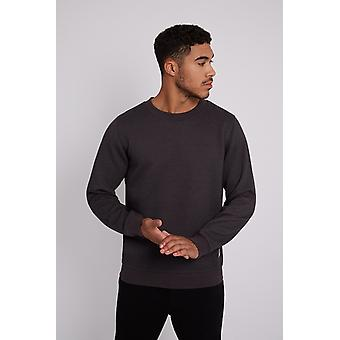 Hymn Masterswitch Charcoal Quilted Sweater Grey