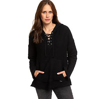 Roxy Young Womens skulle du tro poncho hoodie-antracit svart