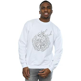 Disney Men's Frozen Friends Wreath Sweatshirt