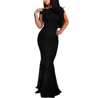 Elapsy Womens Sexy Elegant Off Shoulder Bardot Lace Evening Gown Fishtail Max...