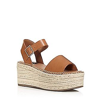 NOTFOUND Womens Ria Leather Open Toe Casual Platform Sandals