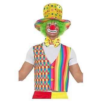Pánske dospelí veľký top klaun maškarné šaty Kit