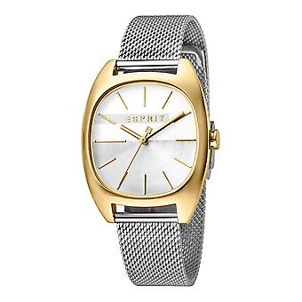 Esprit ES1L038M0115 Infinity Silver Gold Mesh Women's Watch