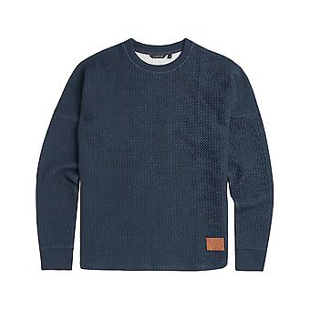 Animal Structured Sweatshirt in Indigo Blue Marl