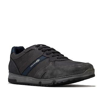Mens Geox Wilmer Trainers In Charcoal