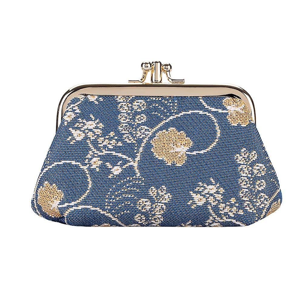 Jane austen blue coin purse by signare tapestry / frmp-aust