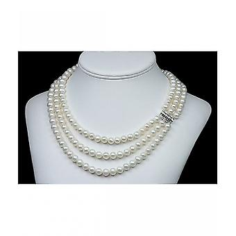 Luna-Pearls Pearl Necklace Breeding Beads with White Gold HKS116