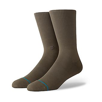 Stance Fashion Icon 2 Crew Socks in Army