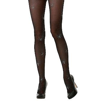 Black Spiderweb Sheer Mid Rise Costume Tights