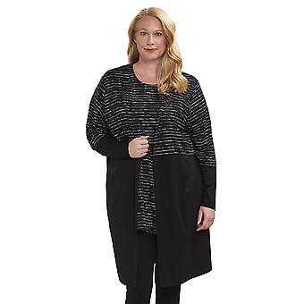 Rosch 1194620-16518 Women es Curve Jet Black Striped Lounge Jacket